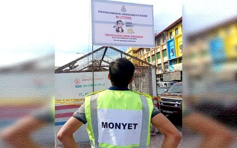 Jadi 'Monyet' Jika Buang Sampah Merata Rata Di Semporna