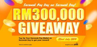 CM Abang Jo Umum RM300 000 Giveaway Untuk Pengguna Sarawak Pay