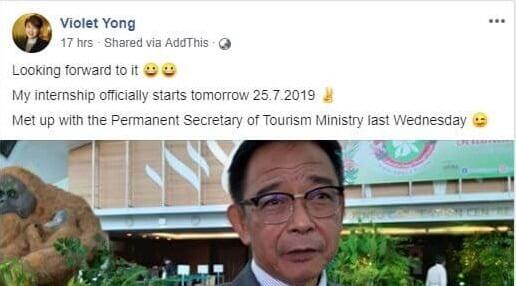 YB Pending Cipta Sejarah, Jadi Intern Sarawak Tourism Board
