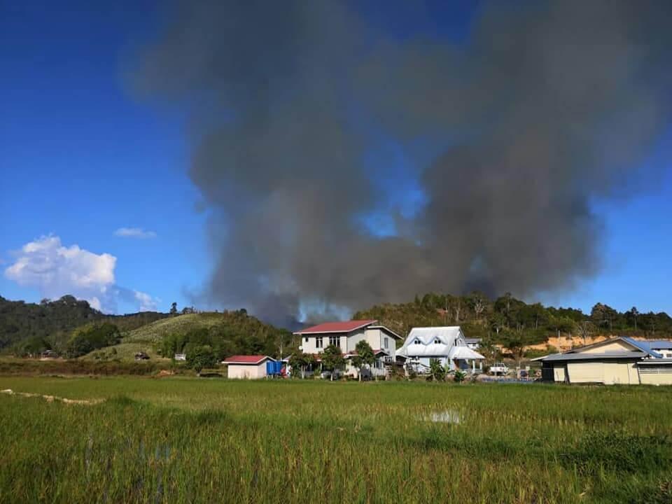 Hutan Bario Terbakar Teruk, 450km Perjalanan Sukar untuk Bomba