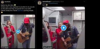 Nyanyi Lagu Iban Live dalam Flight, Pramugari Jemput Lelaki Ini Hiburkan Penumpang