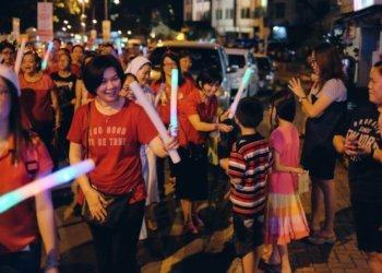 Lebih 15 Buah Gereja Dari Seluruh Sarawak Sertai Perarakan Ini