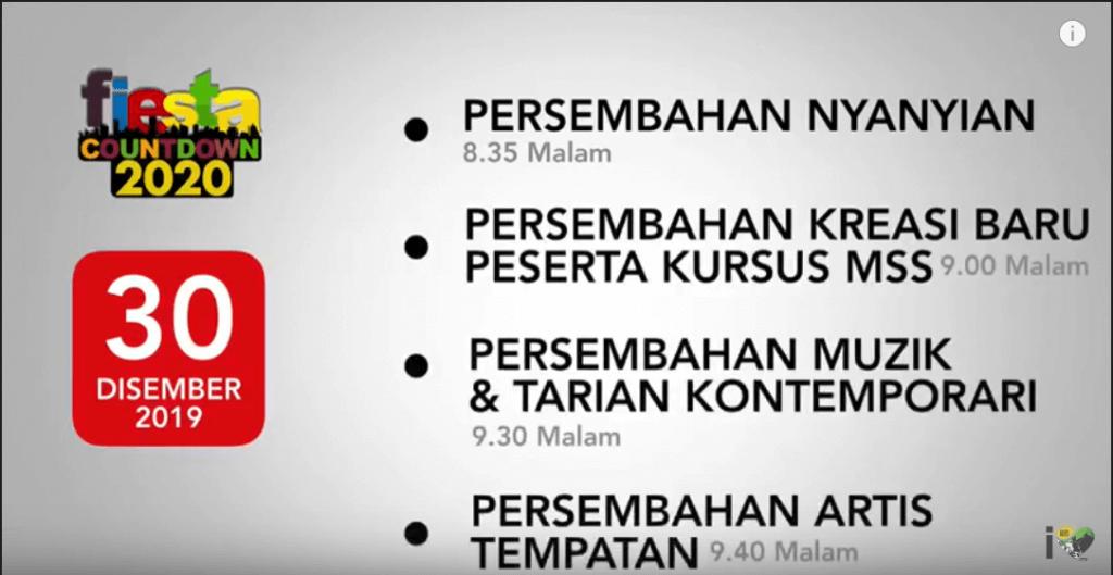12 Aktiviti Gilang Gemilang Sempena Fiesta Countdown 2020 Sarawak