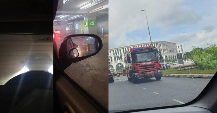 [ Terkini ] Kenderaan Terbakar Di Tempat Letak Kereta Bertingkat Vivacity