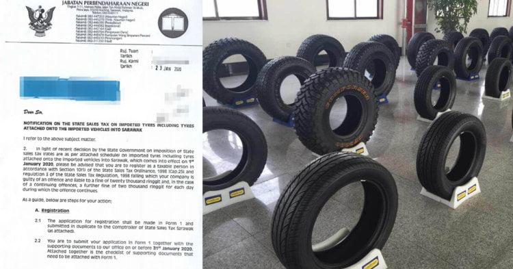 Sarawak Bakal Laksana Cukai Tayar Import, RM10 Untuk Satu Tayar Kereta Bawah 5 Tan