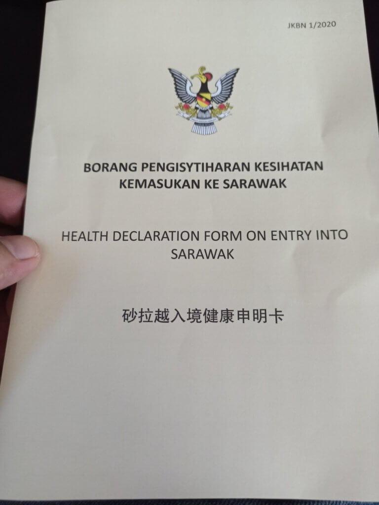 Ini Panduan Borang Pengisyitiharan Kesihatan Kemasukan Ke Sarawak