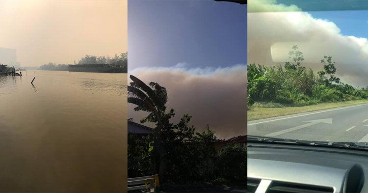 Jerebu Kembali Ke Miri, Dikatakan Berasal Dari Kebakaran Hutan