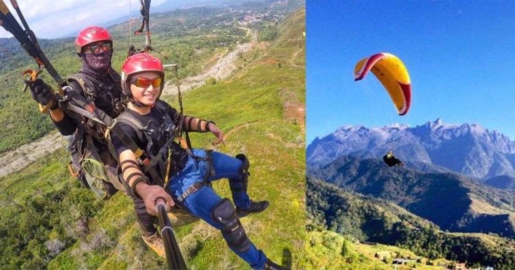 Berminat Untuk Mencuba Paragliding? Berkunjunglah Ke Ranau, Sabah