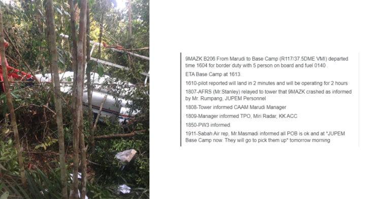 Helikopter Terhempas Di Marudi, 2 Orang Juruterbang Selamat
