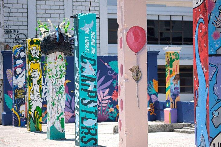 Inilah Pillars Of Sabah, Tiang Mural Haiwan Eksotik Yang Instaworthy Di Kota Kinabalu