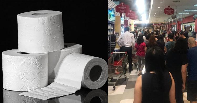Pasar Raya Kuching Mula Diserang. Seperti Biasa, Tisu Laku Keras