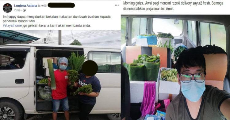 Tidak Merungut, Make Up Artist Sarawak Selamba Jual Sayur Semasa PKP