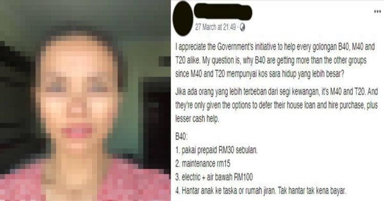 Wanita Ini Undang Kecaman Netizen Kerana Cemburu Dengan Bantuan B40