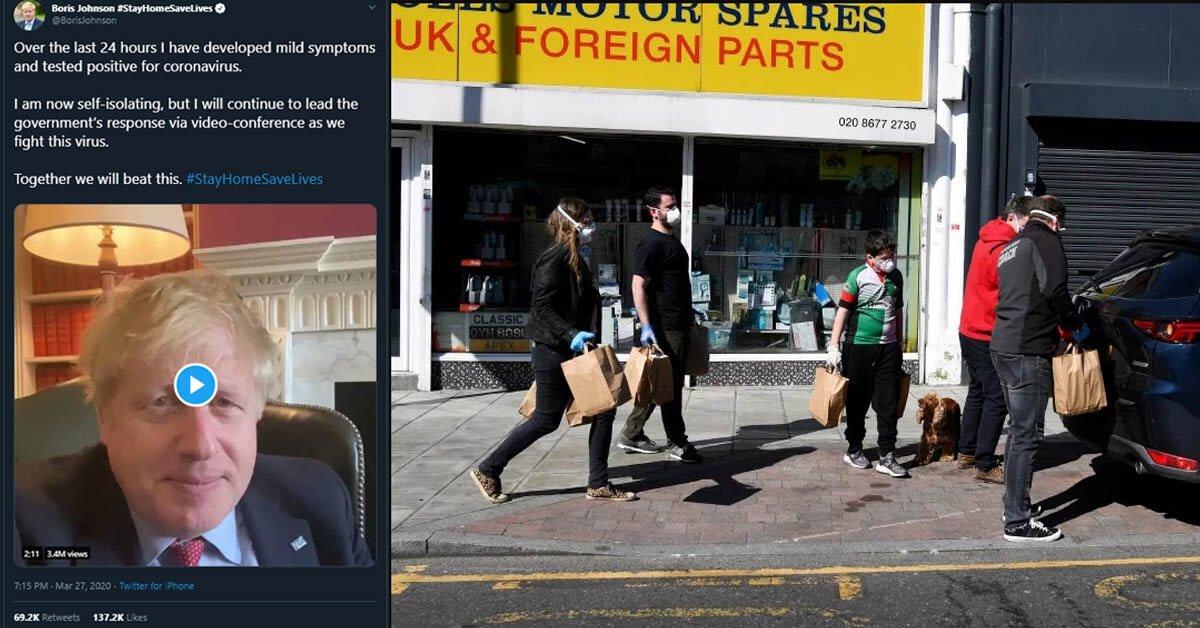 Perdana Menteri UK Sahkan Dirinya POSITIF COVID19, Kini Isolasi Diri