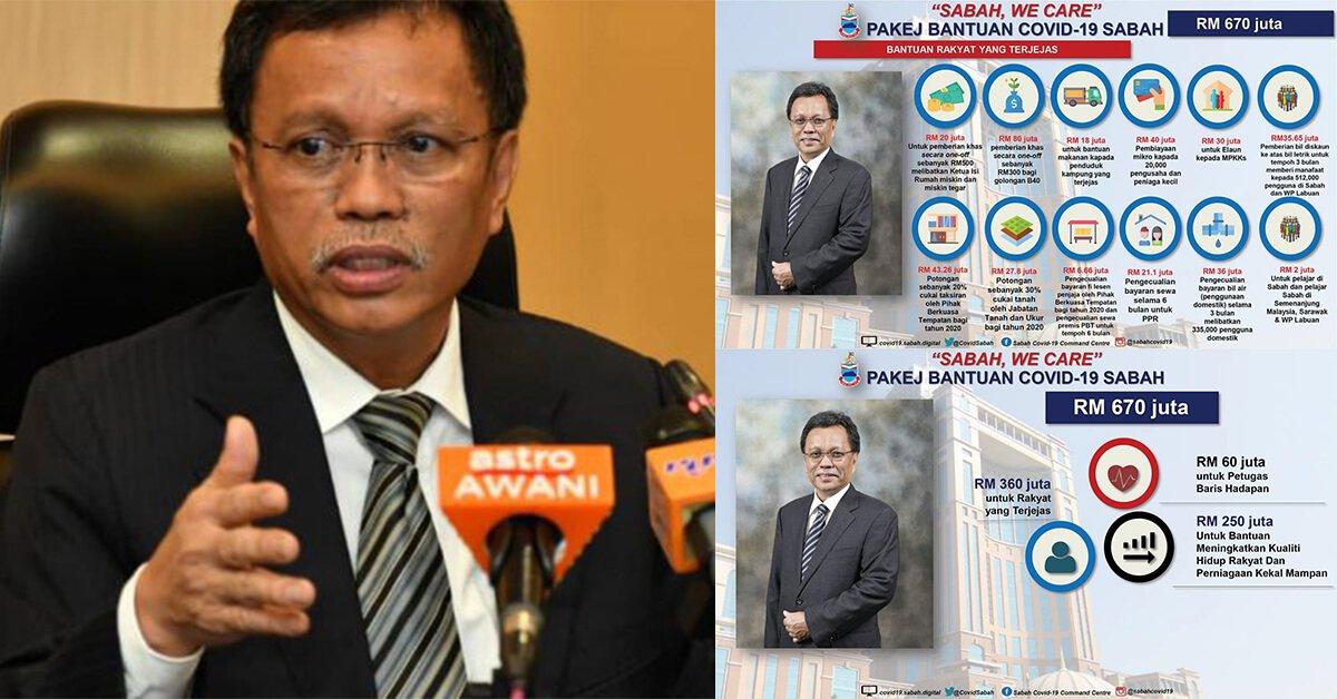 Photo of Sabah Umum Pakej Ransangan Ekonomi Bernilai RM670 Juta