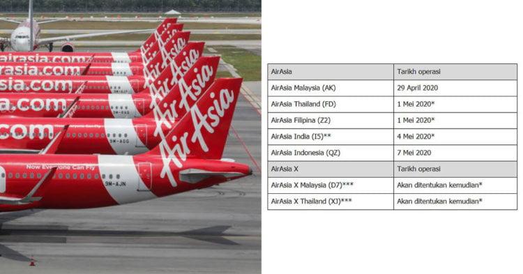 AirAsia Umum Penerbangan Domestik Terpilih Akan Disambung Mulai 29 April 2020
