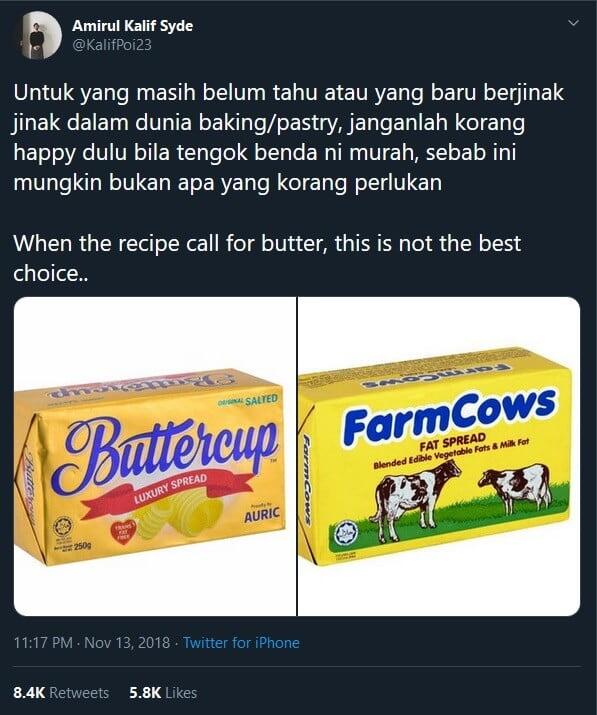 Ketahui Tips Memilih Butter Yang Betul Agar Kek Menjadi Dan Sedap
