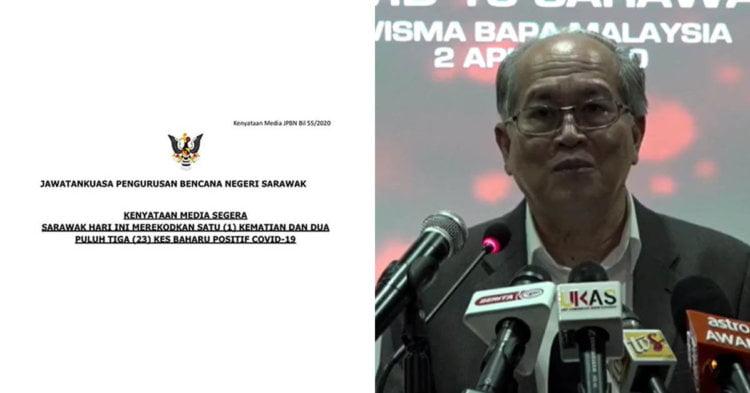 COVID19 : 23 Kes Baru Positif COVID19 Di Sarawak Hari Ini, 211 Kes Keseluruhan Setakat Ini