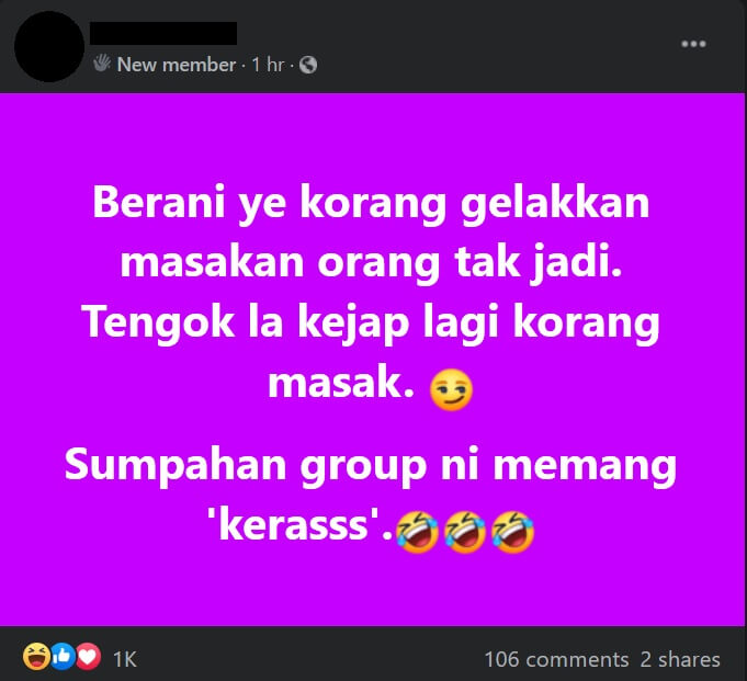 Tiba-Tiba Tular, 'Group' Masakan Tak Jadi Penghibur Terbaru Netizen