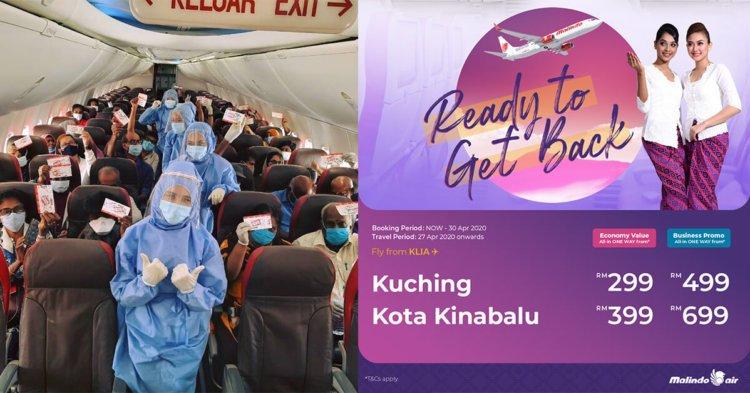 Malindo Air Kembali, Mula Tawarkan Pembelian Tiket Ke Kuching Dan Kinabalu