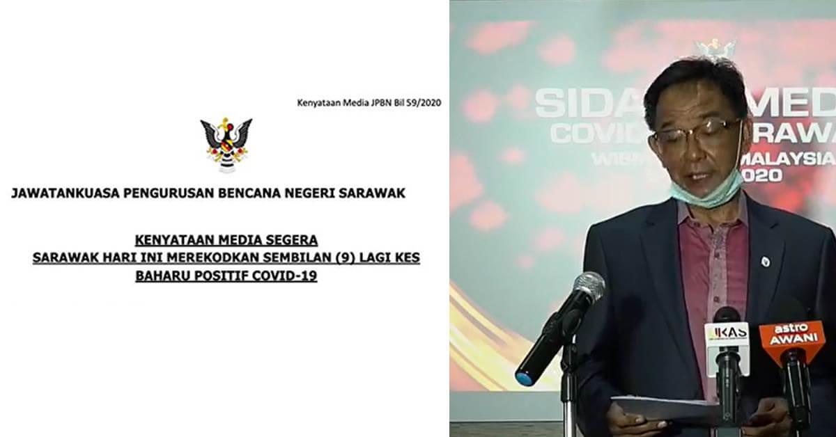 COVID19: 9 Kes Positif Hari Ini, 273 Kes Positif Setakat Ini Di Sarawak