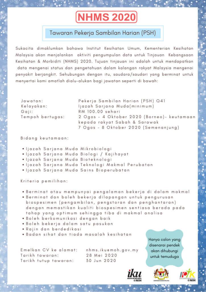 Tawaran Pekerja Sambilan Harian (PSH) KKM Di Sabah Dan Sarawak Kini Dibuka