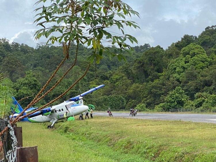 Pesawat MASWINGS Terkeluar Landasan Di Long Seridan, Mujur Tiada Kemalangan Jiwa