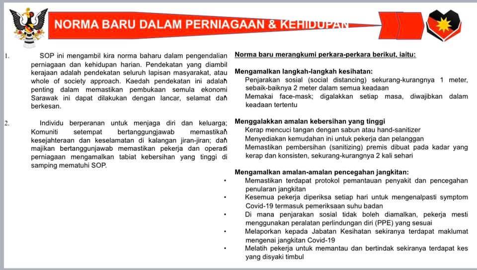 Ini Senarai 66 Aktiviti Yang Masih Dilarang Semasa PKPB Di Sarawak