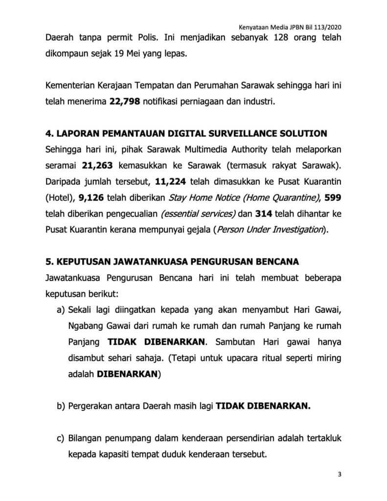 Sarawak Turut Laksana Bilangan Penumpang Ikut Kapasiti Kenderaan