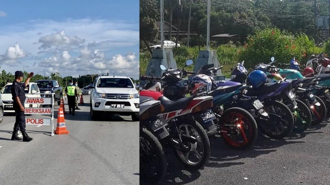 Jalan Dari Samarahan Ke Simunjan Semasa PKPB, 25 Penunggang Motosikal Dikompaun