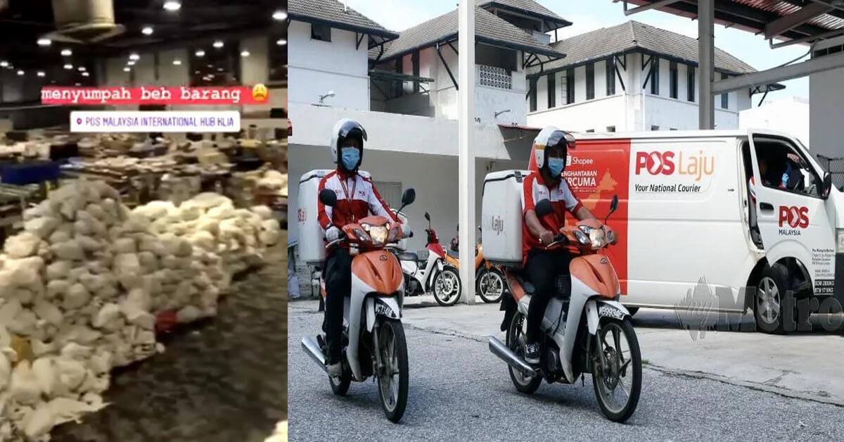 """""""Harap Semua Bersabar,"""" POS Malaysia Dedahkan Video Parcel Bertimbun Di KLIA"""