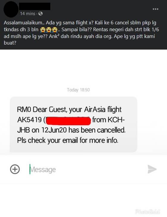 Terkandas Berbulan, Dilema Asyik 'Flight Cancelled'  Masa PKPB