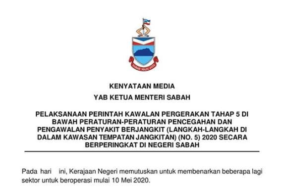 Sabah Mula Benarkan Sektor Pelancongan Domestik Beroperasi, Harus Patuhi SOP