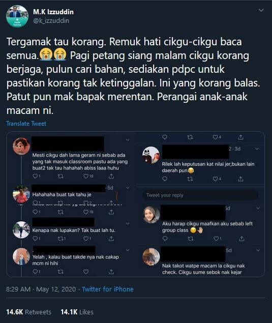 Warga Pendidik Kecewa Pelajar Sengaja 'Left Group' Tugasan Semasa PKP