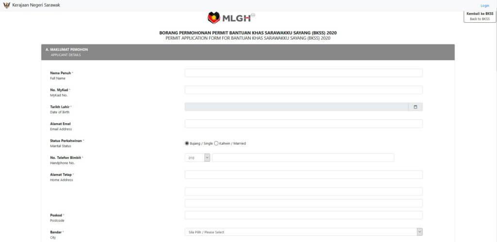 Ikuti Cara Mendaftar Permit Bantuan Sarawakku Sayang 'Online' Bagi Penjaja Tidak Berlesen