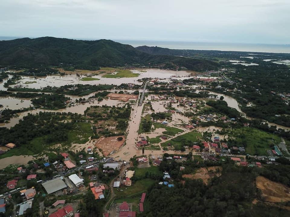 5 Daerah Di Sabah Dilanda Banjir, Kota Belud Bertukar Ibarat Tasik, Moga Bertabah Semuanya!