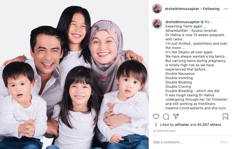 Rezeki Syawal, Angkasawan Negara Dr Sheikh Muszaphar Bakal Dapat Anak Kembar Lagi