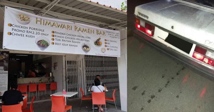 Akibat Dilanggar Kereta, Uncle Ramen Kesayangan Warga Kuching Terpaksa Menutup Kedai Sementara Waktu