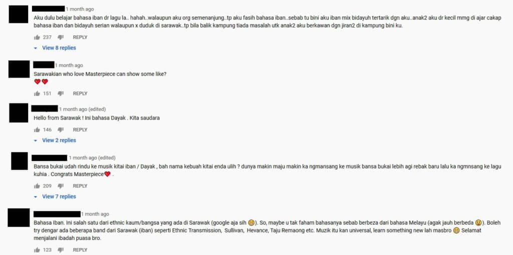 Lihat Reaksi Youtuber Indonesia Ini Dengar Lagu Iban 'Redak Seribu'