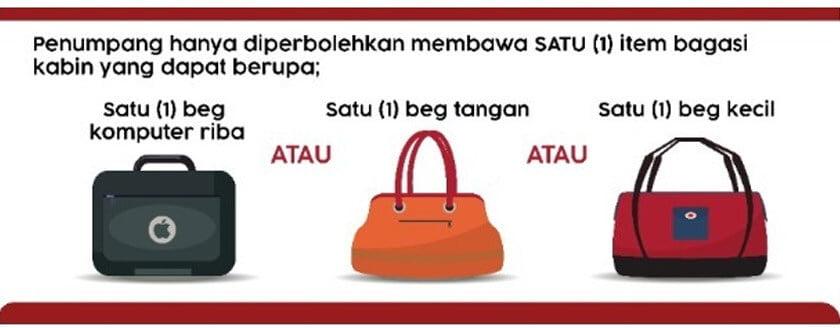 Tiada Storan Atas Kepala, Anda Kini Hanya Dibenarkan Bawa 1 Beg Dalam Kabin AirAsia