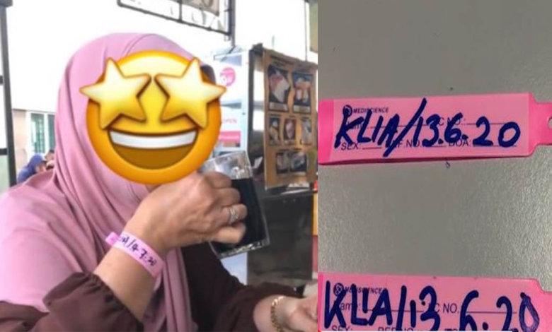 Netizen Kecam Wanita Ini Yang Keluar Makan Guna Gelang Kuarantin