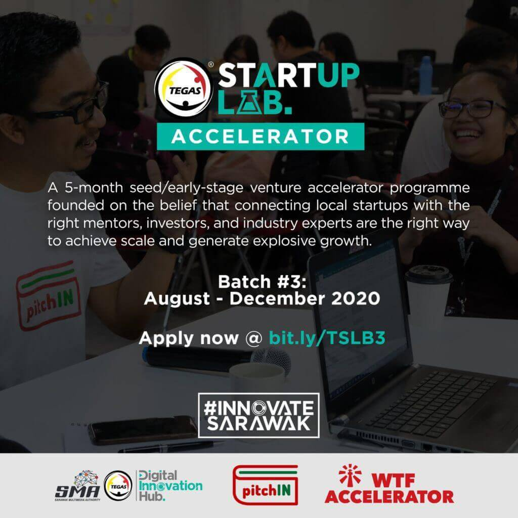 5 Syarikat Pemula Sarawak Terpilih Untuk TEGAS Startup Lab Batch #3