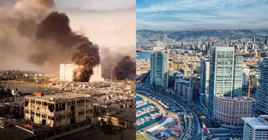 Persis Skala Letupan Bom Atom, Kota Beirut Di Lubnan Hancur Sekelip Mata