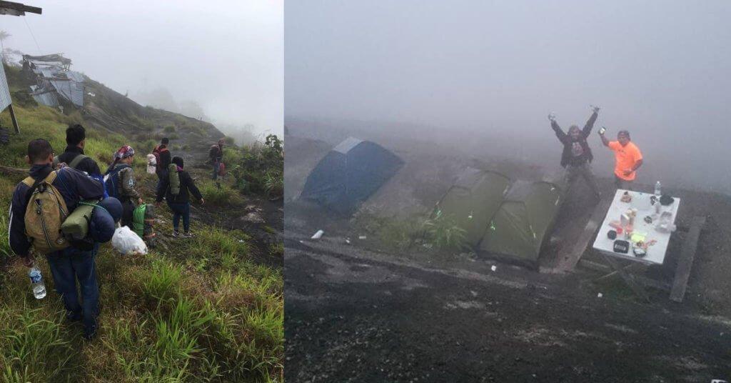 Puncak Dimie Banjaran Crocker, Lokasi Camping Atas Awan Di Sabah