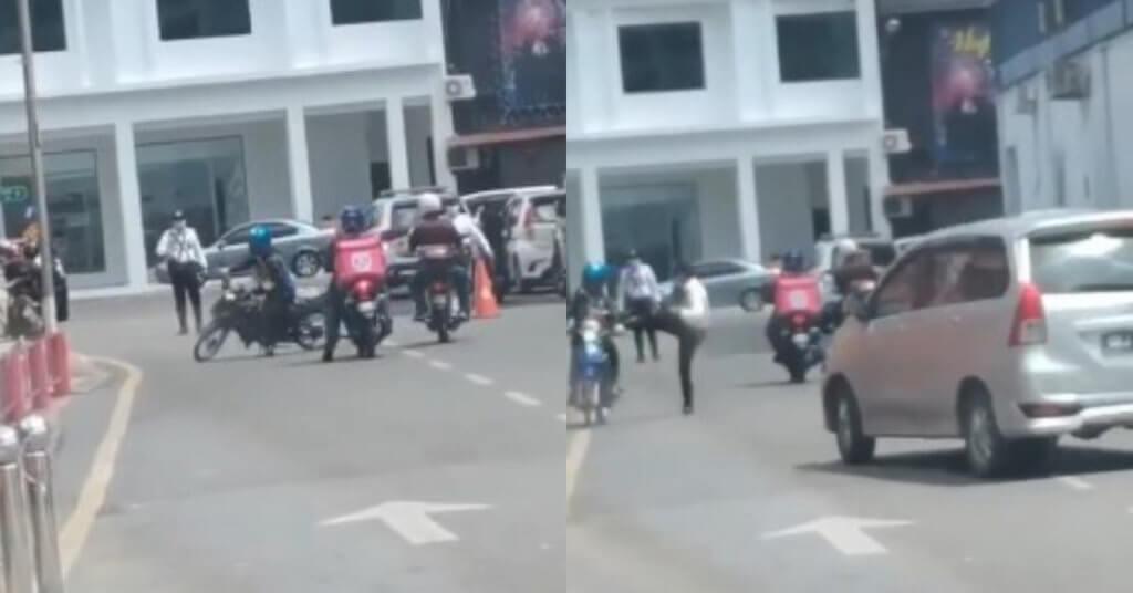 Isu Polis Tendang Motorsikal Lari Roadblock Di Sibu, Netizen Tampil Pertahan Tindakan