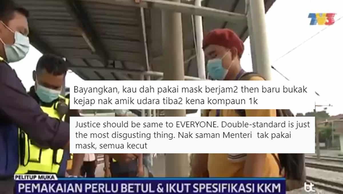 Remaja Menangis Didenda RM 1K Kerana Turunkan Pelitup Muka, Netizen Bidas Tindakan Pilih Kasih PDRM