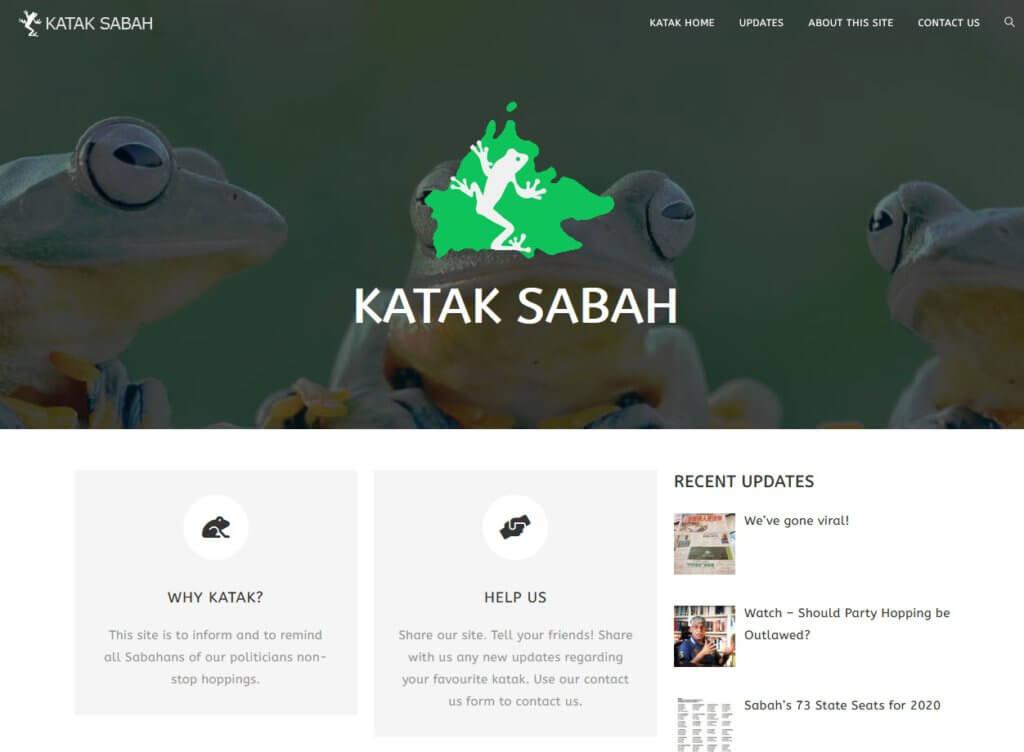 Katak Sabah, Laman Sesawang Khas Lihat Ahli Politik Yang Lompat Parti Di Sabah