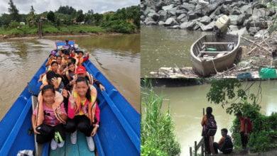 Photo of Bot Tiba-Tiba Karam, Sekumpulan Pelajar Di Telupid Sabah Hampir Lemas Semasa Ke Sekolah