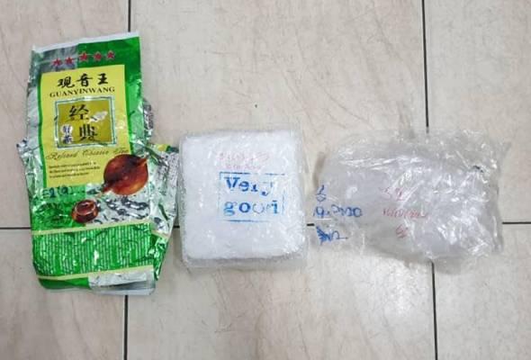 Dua PATI Membawa 2 kg Dadah Berjaya Dicekup Polis. kredit gambar: astroawani