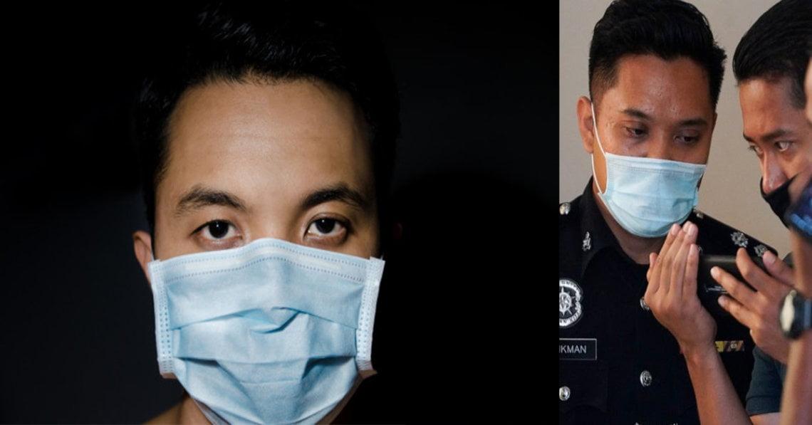 Ditegur Untuk Pakai Pelitup Muka Di Balai Polis, Lelaki Ini Kemudian Memaki Polis